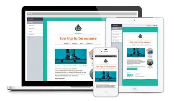 Eksempel på mobilvenlige og responsive e-mails