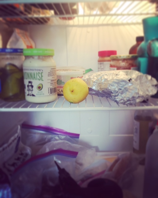 That foil to the right of the lemon is the banana bread from Ritika.