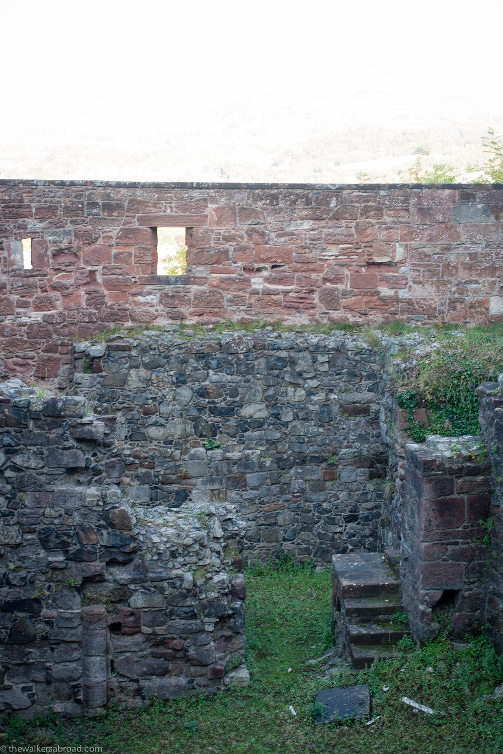 Remnants of the Wallace Tower, named for William Wallace.