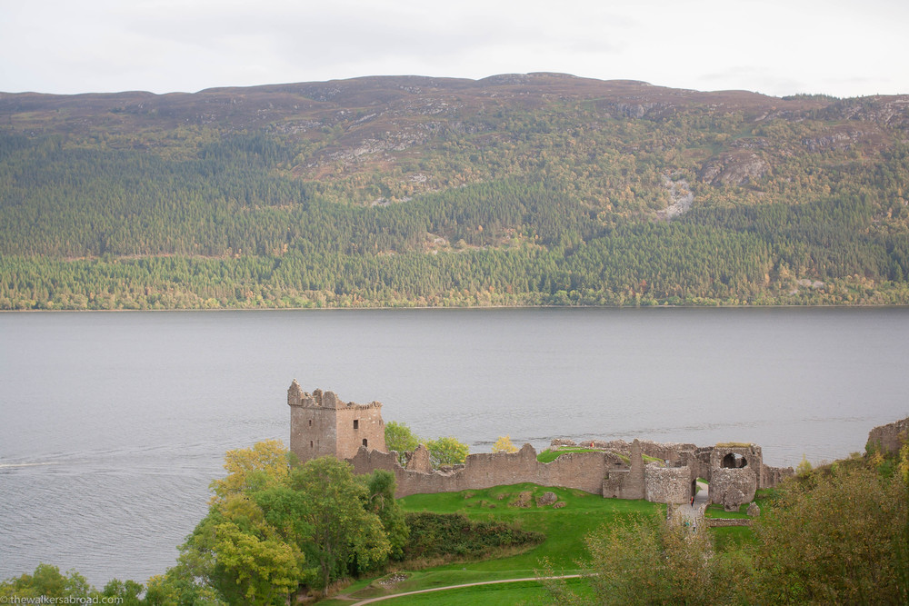 Urquhart Castle. The waves in the background are from a tour boat. ;)