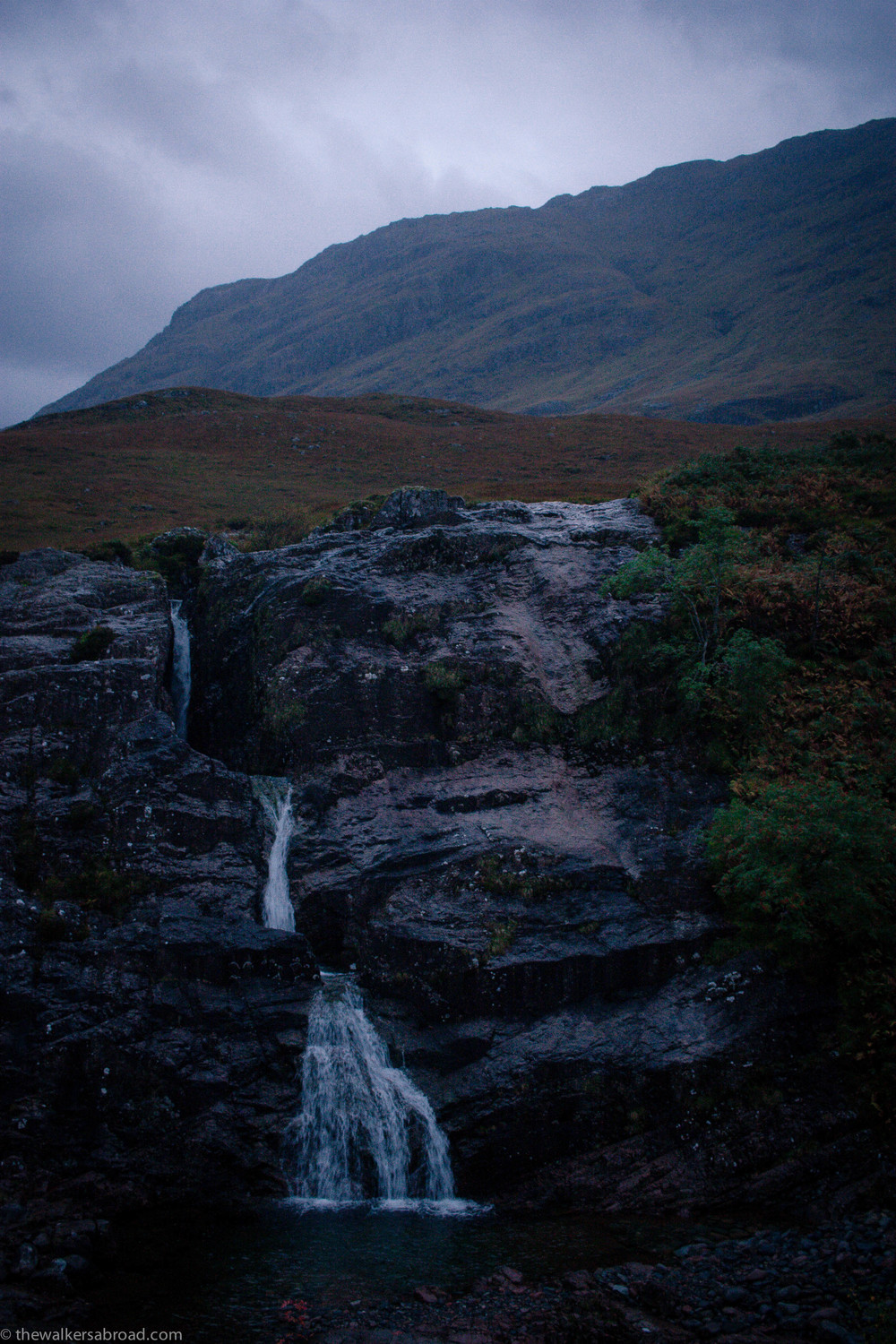 One of the many waterfalls in Glen Coe.