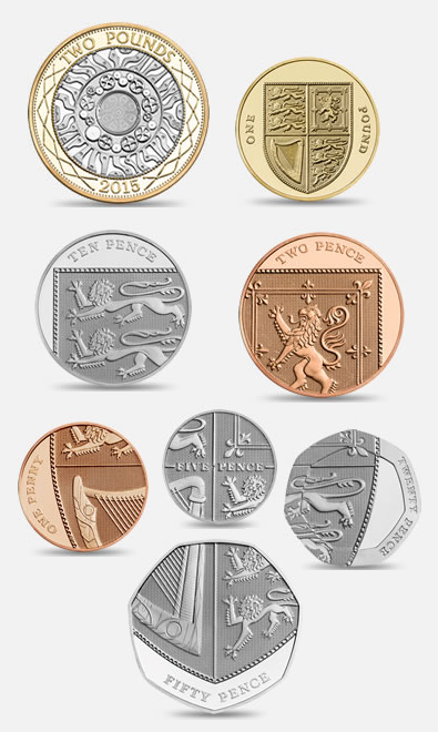 A breakdown of the pounds sterling coins,  via