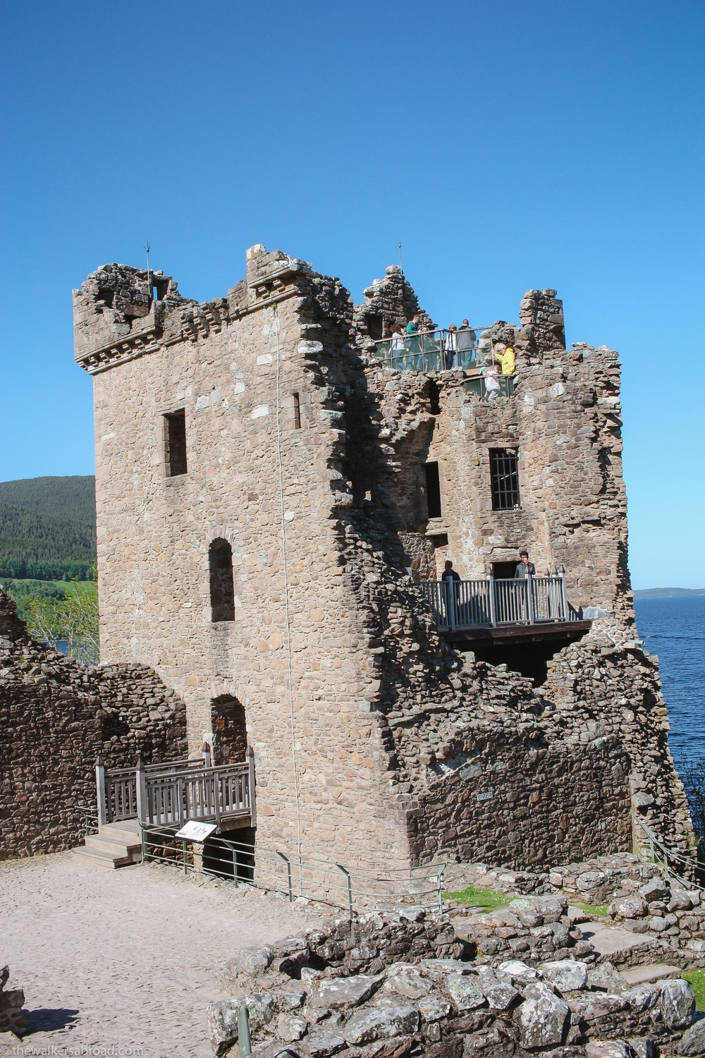 The Grant Tower at Urquhart Castle