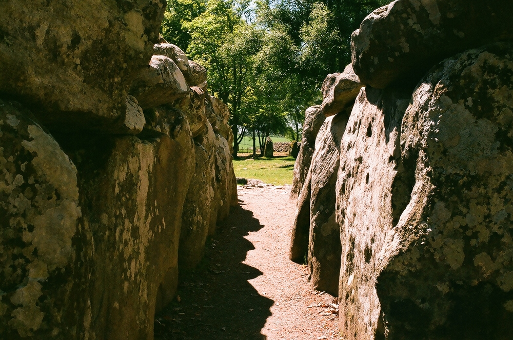 Picture taken from the center of the middle cairn, looking out over to the farthest cairn. Photo by myself, 35mm.