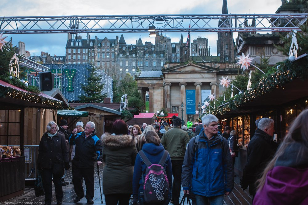 Christmas market Edinburgh