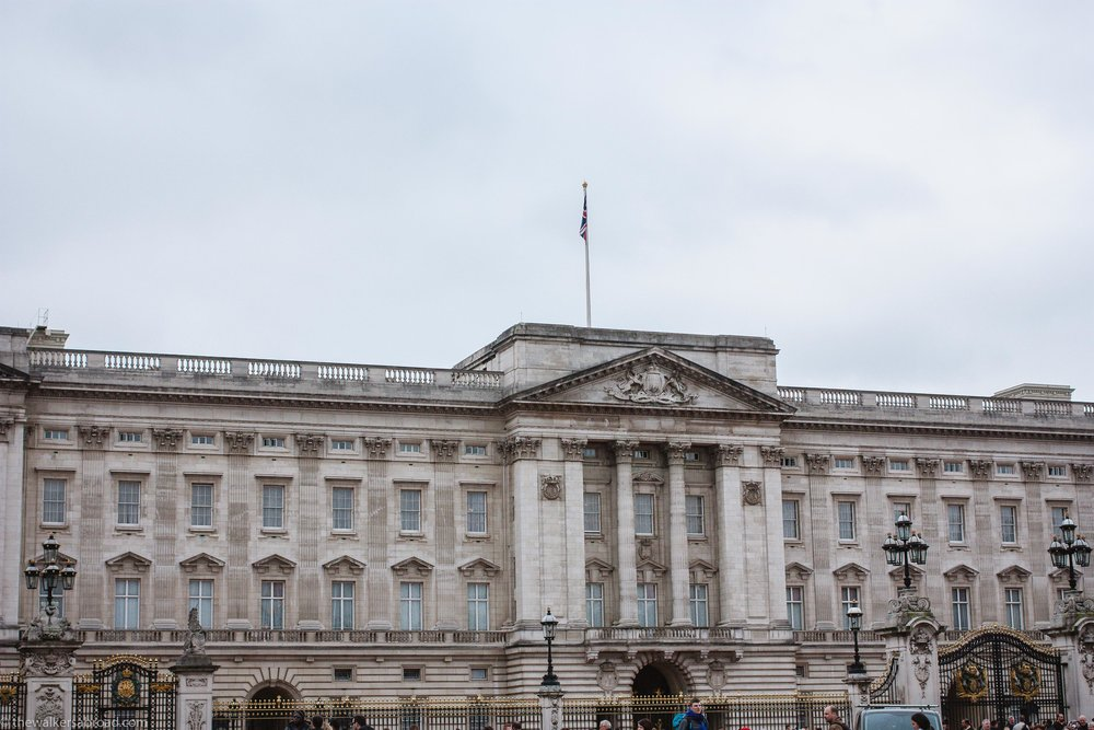 Up close and personal with Buckingham Palace.