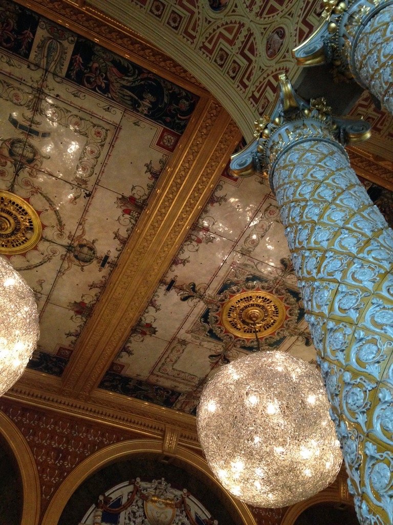 The beautiful ceiling we ate under at the Victoria and Albert Museum. Museum food was very delicious.