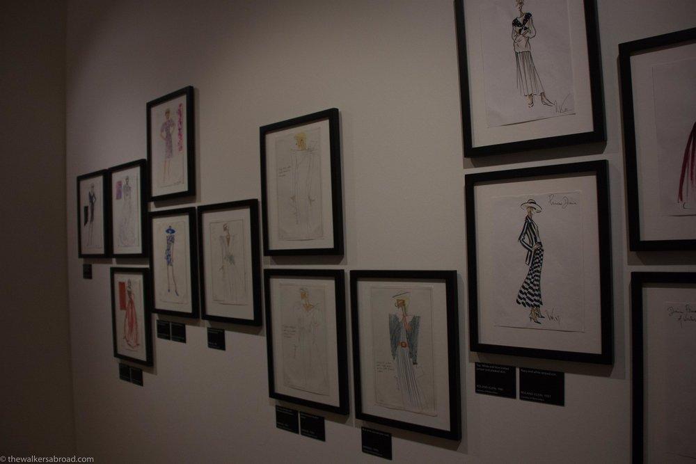Sketches of Princess Diana's dresses