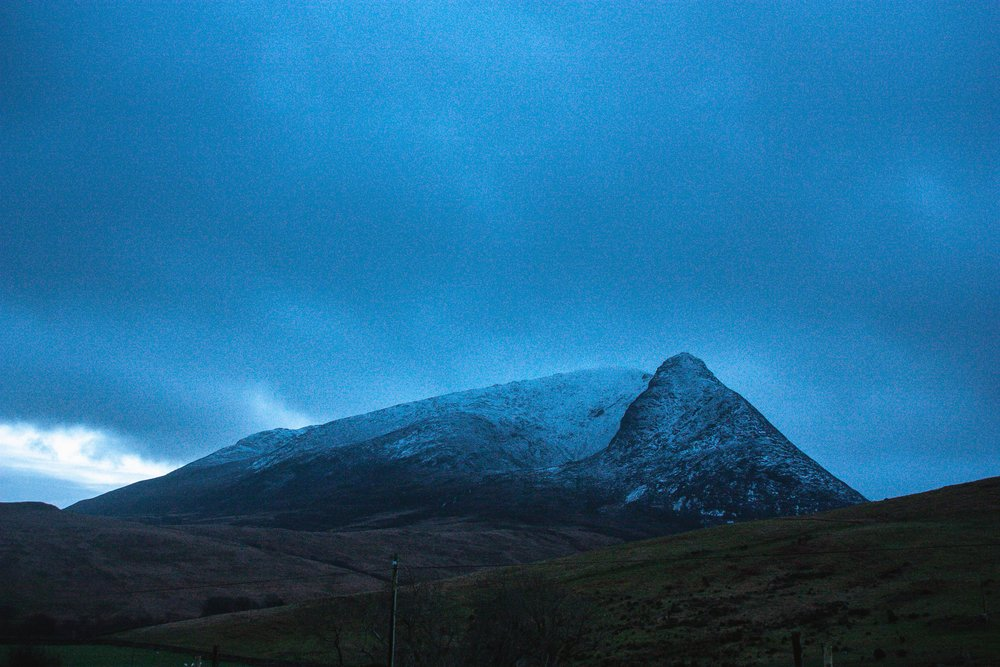 Goatfell at dusk.