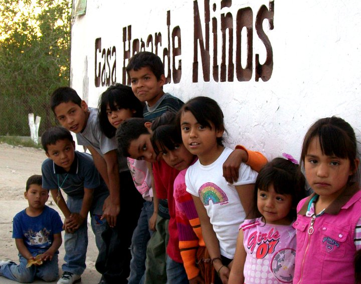 Children outside of the orphanage in Juarez, Mexico operated by Rescue Ministries of Mexico.