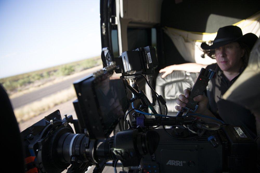 Director Bernard MacMahon films landscapes in Texas