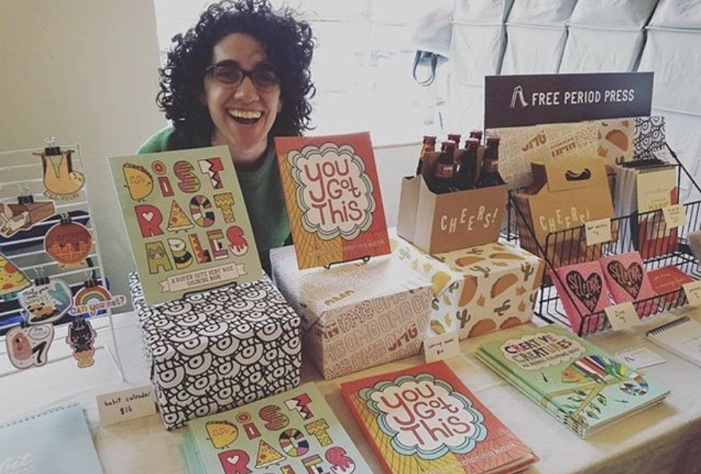 Lora at the Cleveland Bazaar. Via @freeperiodpress.