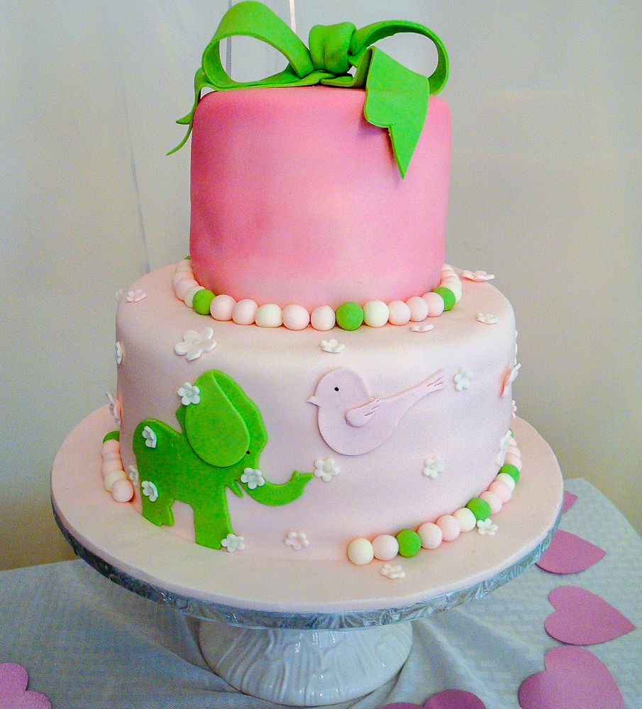 Whimsical customized cake.