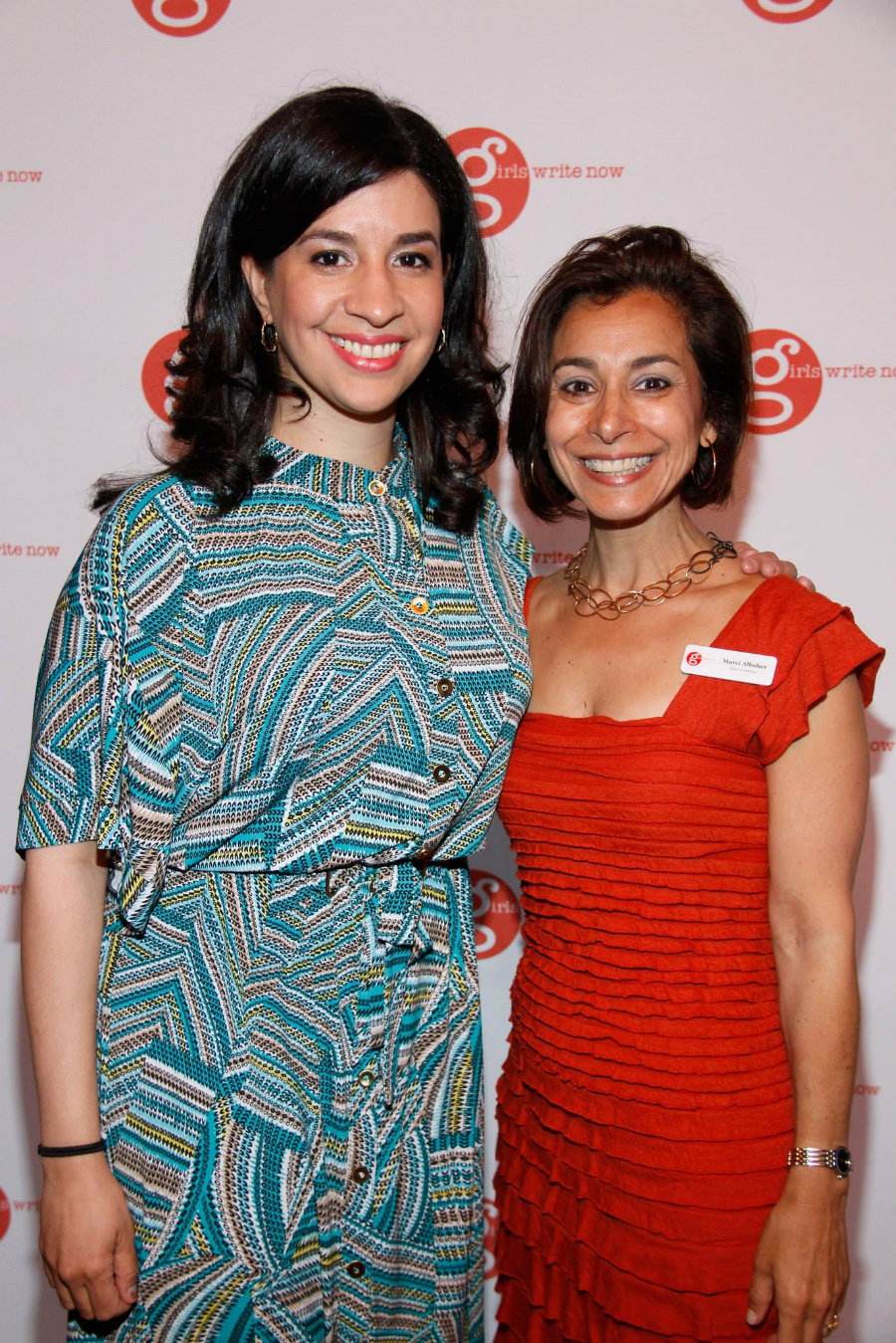 The New York Times journalist Tanzina Vega and GWN Board Member Marci Alboher.
