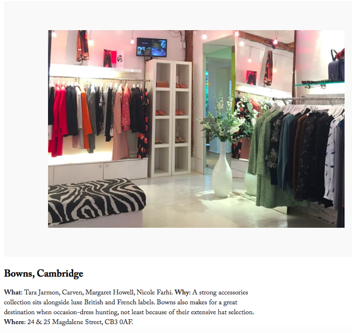 8c3fd6bc687 The Best Boutiques Outside of London- Vogue — Bowns