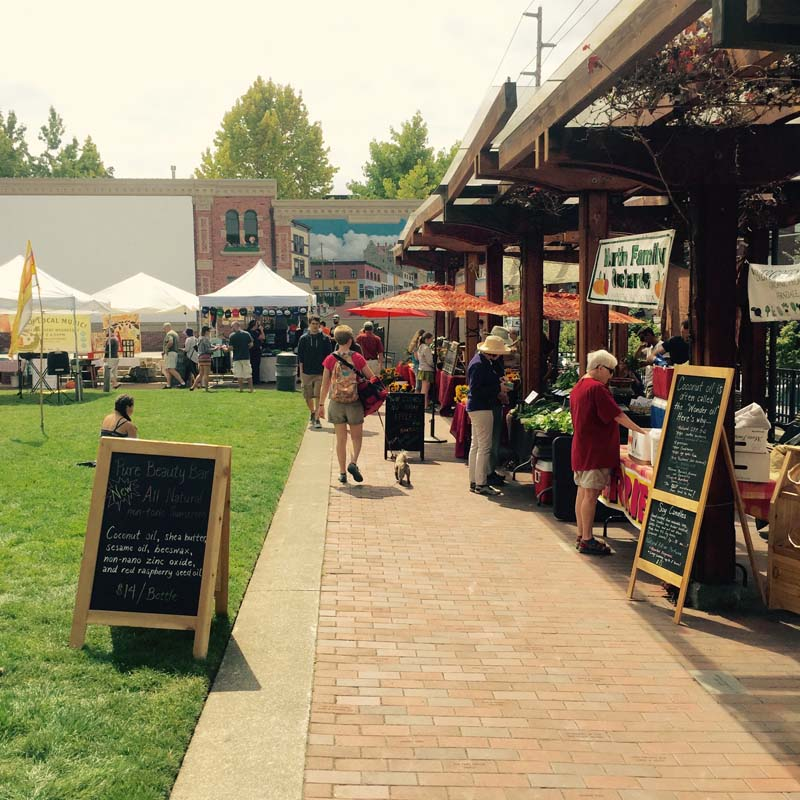 The Fairhaven Farmer's Market happens every Wednesday in the summer.