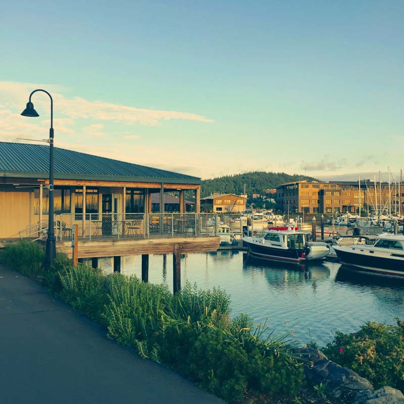 Pub at Bellingham Marina.