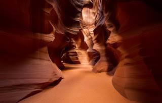 Upper Antelope Canyon outside Page, Arizona.
