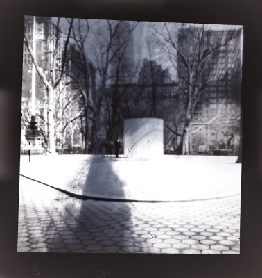 A pinhole photograph after being converted from a negative to a positive using Lightroom 4.