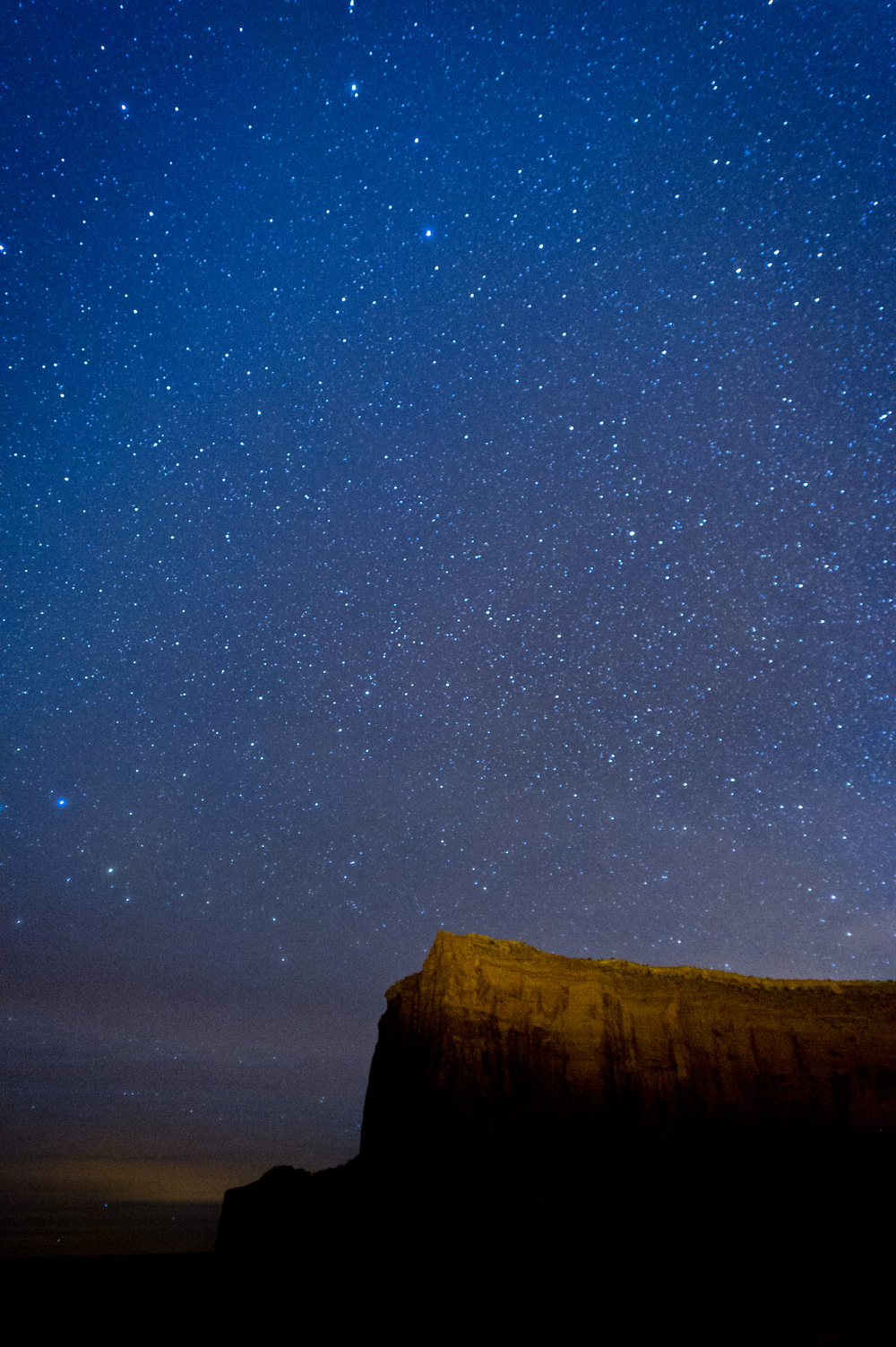 Monument Valley at 3 am. Camera settings: ISO 2000, 20 sec., f 2.8.