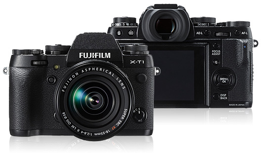 Fujifilm X-T1 mirrorless digital camera. Photo courtesy of Fujifilm.com