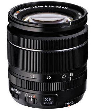 Fujifilm XF 18-55mm f 2.8-4 R LM OIS zoom lens. Photo courtesy of www.bhphotovideo.com
