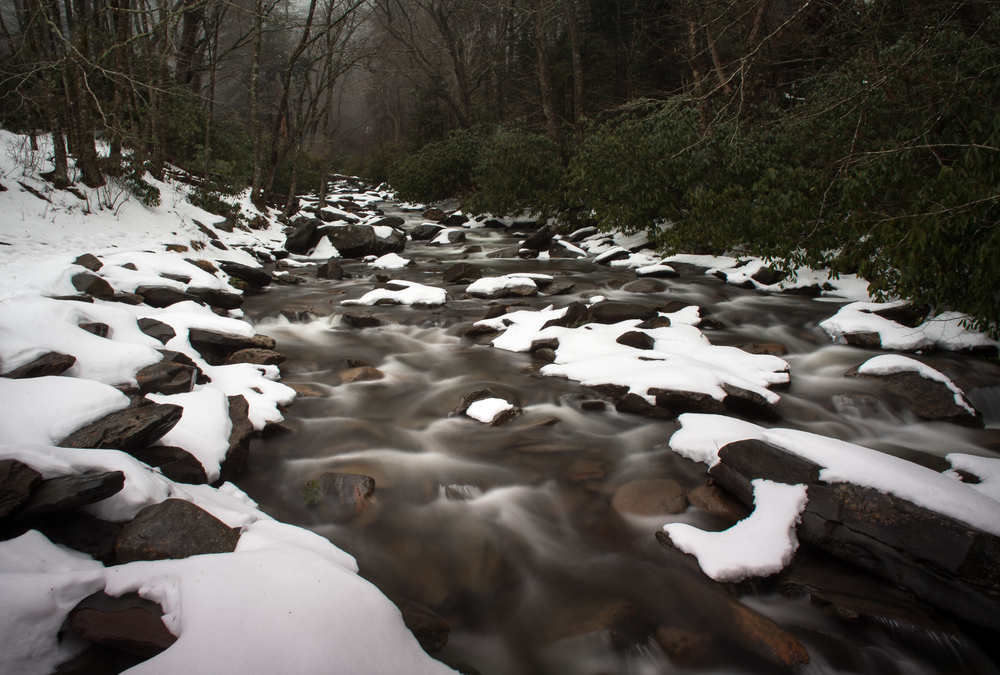 Smoky Stream. 8 @ f20, ISO 100, two graduated ND filters stacked.