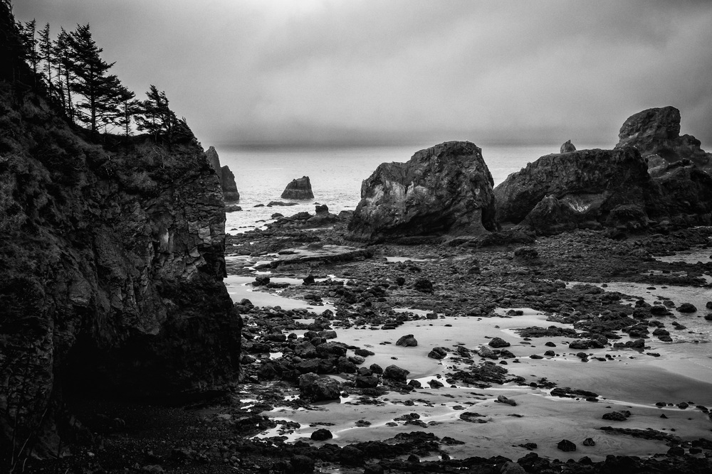 Ecola Point Rock. Fujifilm X-Pro2, 35mm (50mm equivalent), 1/40 @ f11, ISO 640.