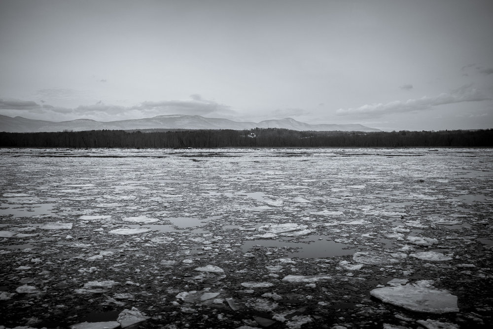 I selected the left side of the Amtrak Adirondack train from New York to Montreal because I knew the Hudson River would be out my window during most of the trip. The ice was a bonus. Fujifilm X100S, 1/1250 @ f2.8, ISO 400.