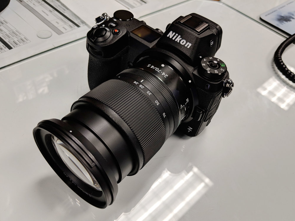 The Nikon Z7 with new 24-70mm f4.0 at District Camera launch event in Washington, D.C.