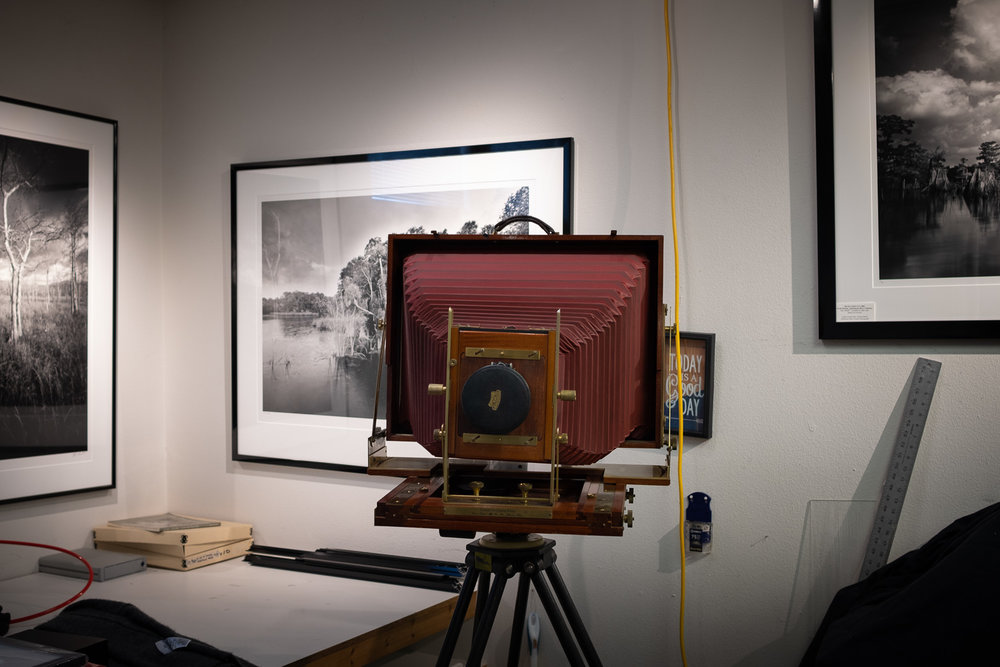 A 12x20 Ron Wisner Field Camera in Clyde's studio.