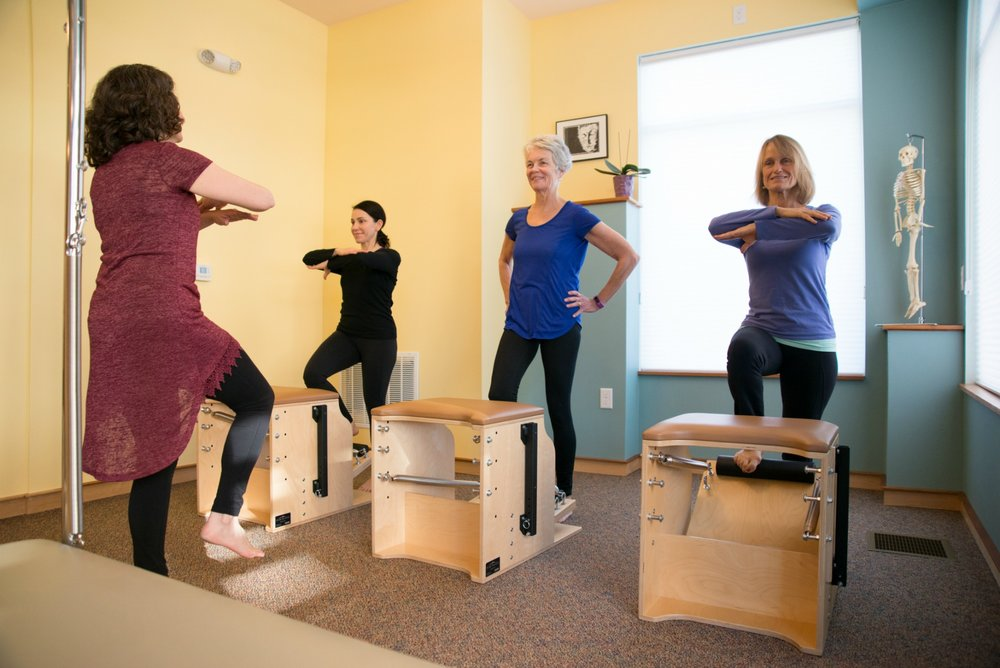Julia teaching a chair class