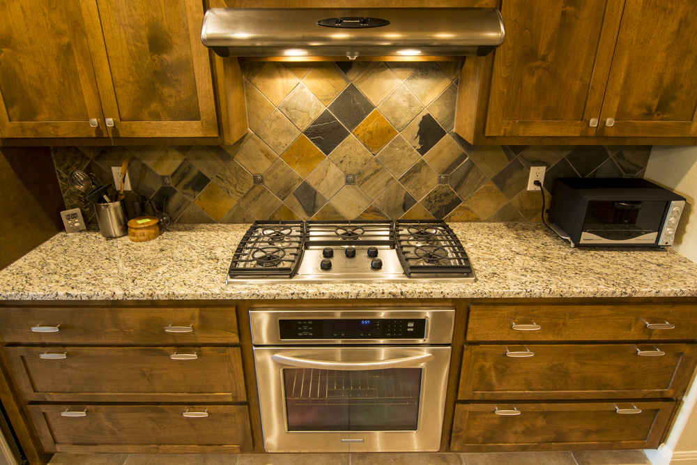 Steel stove top and room to cook