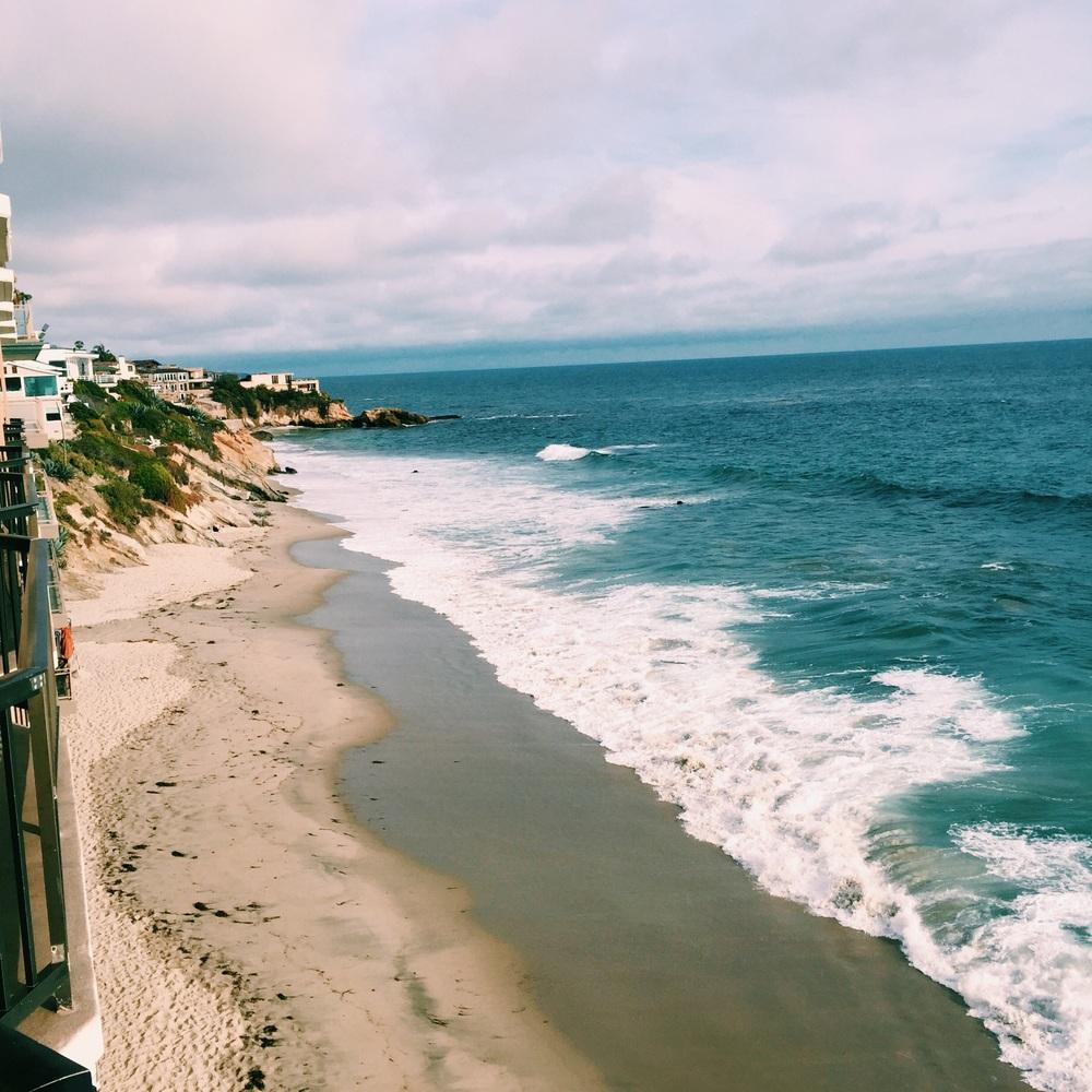 Morgon i Laguna Beach.