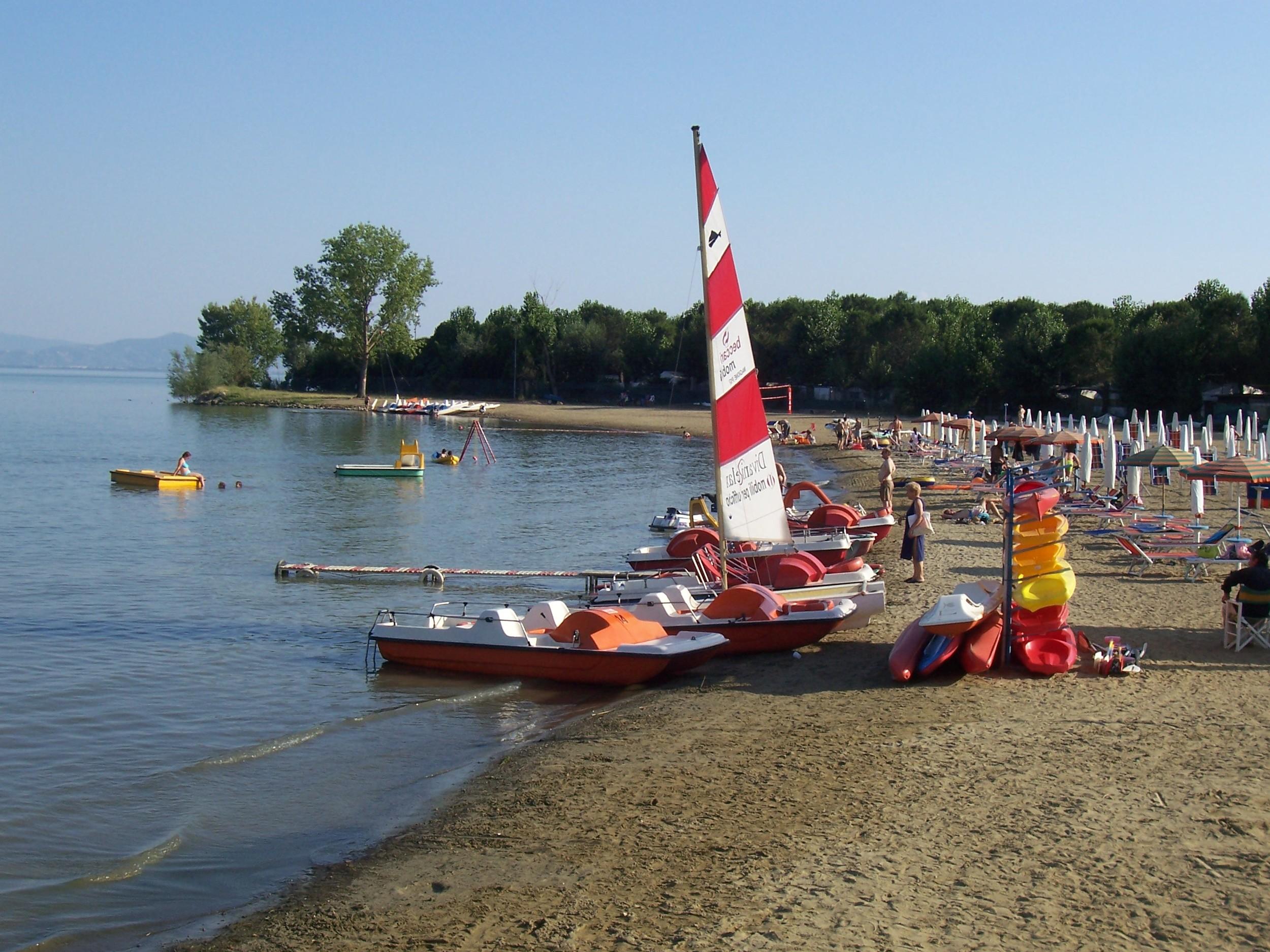 sail boat outside of Cortona Italy