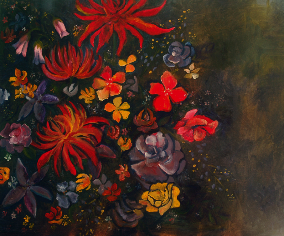 Untitled Floral Oil Painting by Courtney Khail