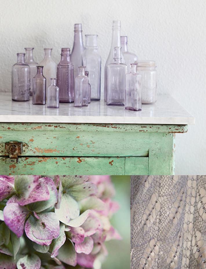 Lavender and Moss color inspiration via courtney khail