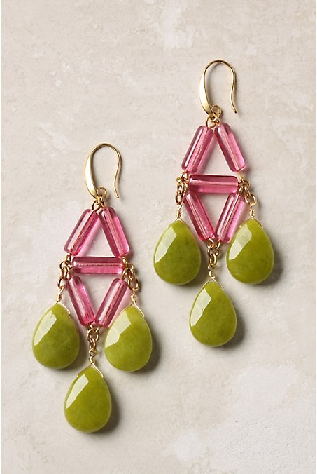 anthro neon earrings via courtney khail