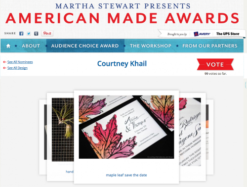 courtney khail finalist for martha stewart american made award