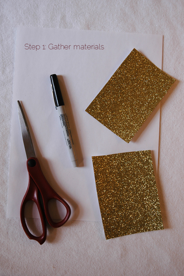 DIY 2 piece glitter christmas tree via courtney khail step 1