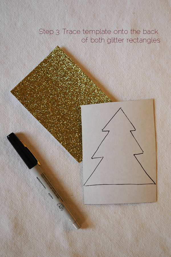 DIY 2 piece glitter christmas tree via courtney khail step 3