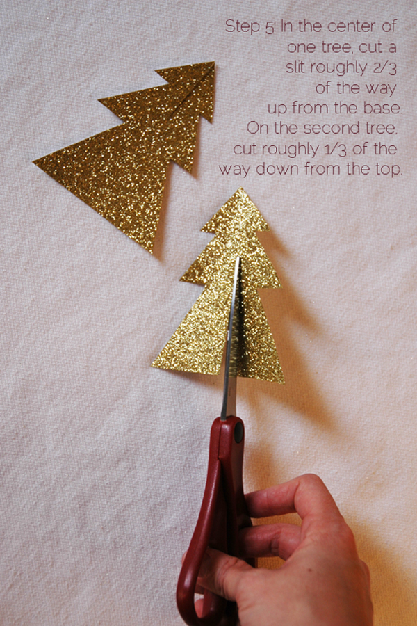 DIY 2 piece glitter christmas tree via courtney khail step 5