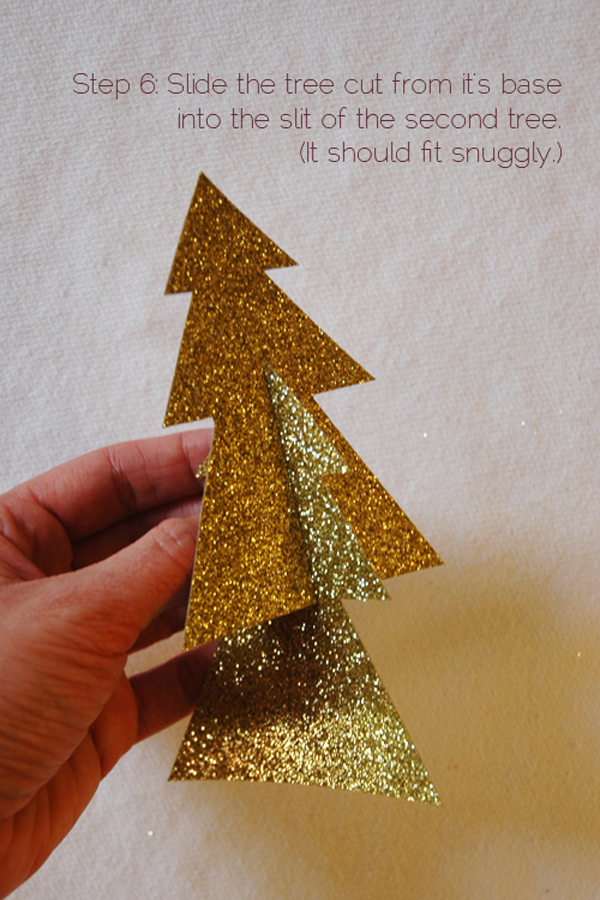 DIY 2 piece glitter christmas tree via courtney khail step 6