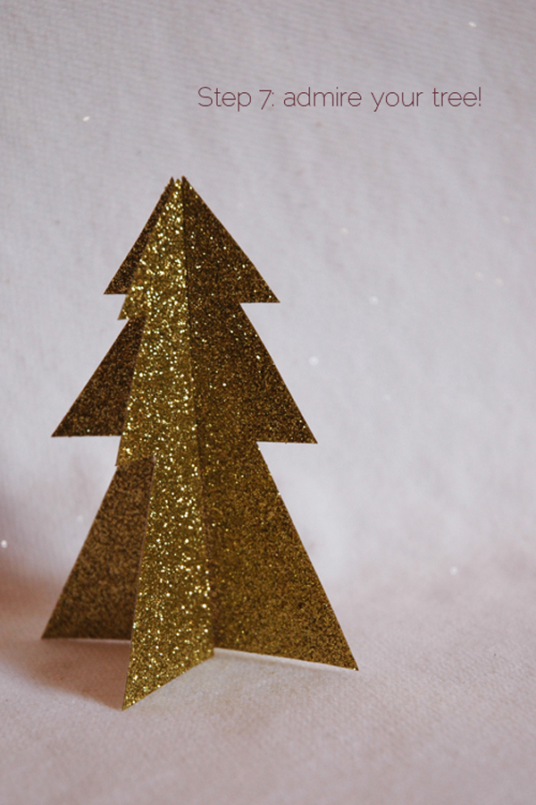 DIY 2 piece glitter christmas tree via courtney khail step 7
