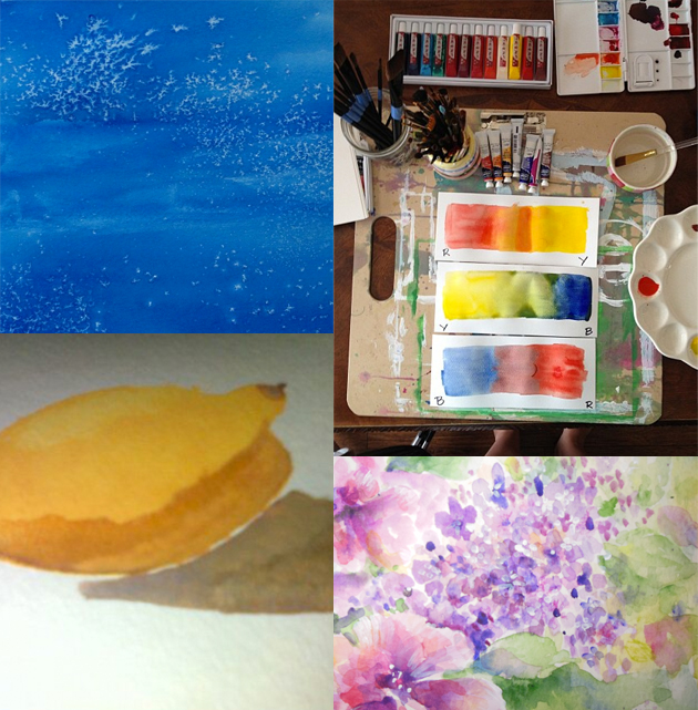 reatively made watercolors class photos via courtney khail