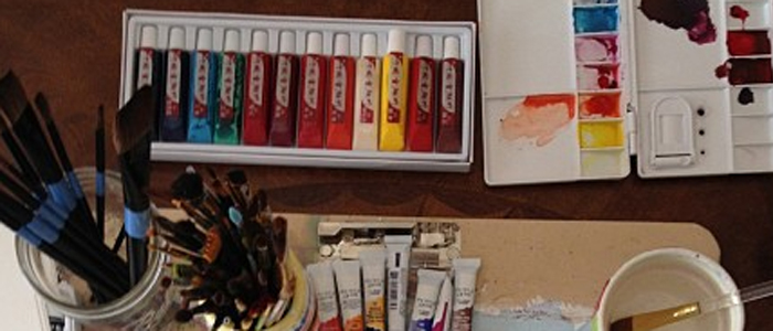 detail creatively made watercolors class photos via courtney khail