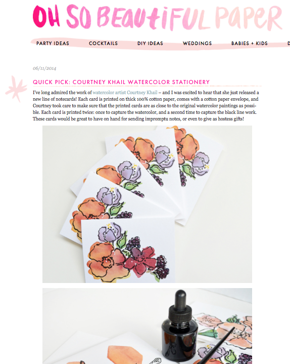 courtney khail on oh so beautiful paper