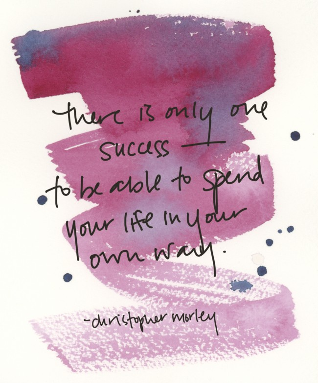 one only success by christopher morley via courtney khail