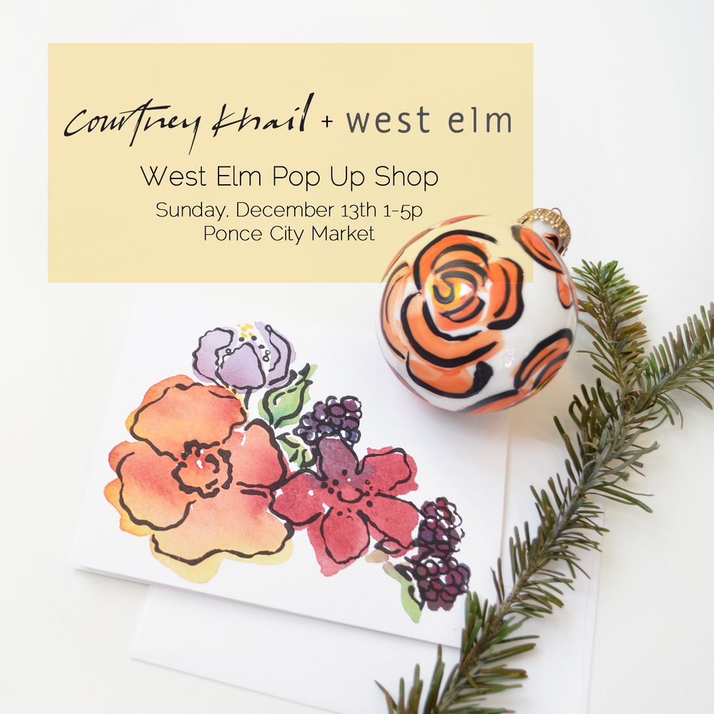 custom watercolor wedding invitations | courtney khail watercolors | atlanta, georgia invitation designer