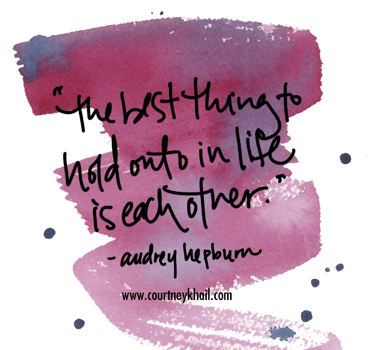 audrey hepburn quote watercolor by courtney khail | Atlanta, Georgia custom watercolor wedding invitations | stationery | fine art